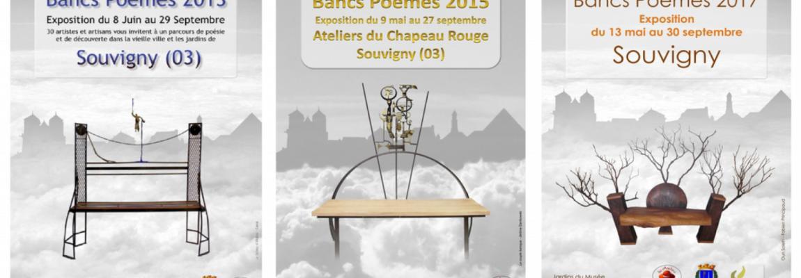 Bancs-poèmes à Souvigny